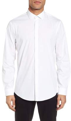 CALIBRATE Trim Fit Stretch Sport Shirt