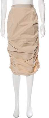 Nina Ricci Ruffle-Accented Knee-Length Skirt