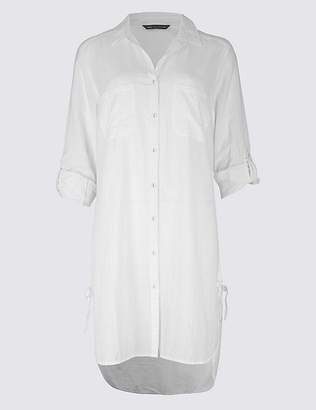 Marks and Spencer Pure Cotton Dipped Hem Beach Dress