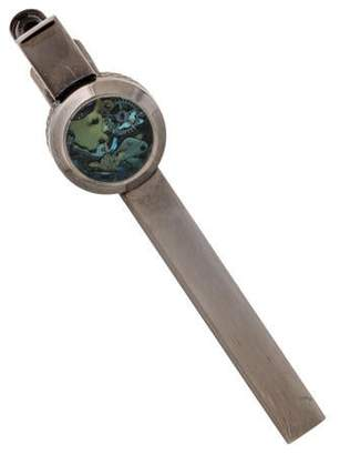 Tateossian Industrial Gears Enamel Tie Clip