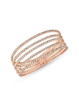 Cezanne Rose Goldtone Crystal Cuff Bracelet