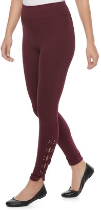 Laundry by Shelli Segal Women's French Lace-Up Leggings