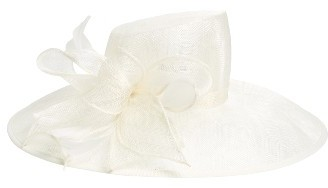 Women's Nordstrom Asymmetrical Sinamay Derby Hat - Ivory $69 thestylecure.com