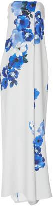 Costarellos Strapless Printed Crepe Jumpsuit