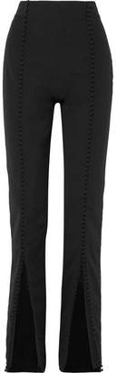 16ARLINGTON - Button-embellished Crepe Straight-leg Pants - Black