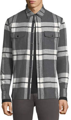 Rag & Bone Men's Jack Brushed Flannel Shirt Jacket