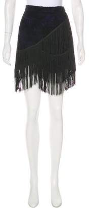 Rebecca Minkoff Fringe-Trimmed Wool Skirt