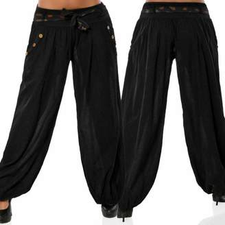 Muranba Pants Women Boho Wide Leg Pants Baggy Casual Yoga Capris Muranba (, XL)