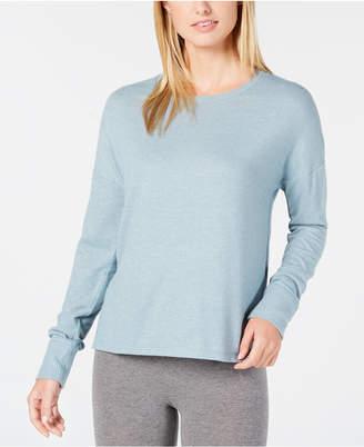 Alfani Brushed Hacci Knit Pajama Top, Created for Macy's