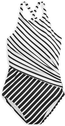 Ralph Lauren Slimming High-Neck One-Piece