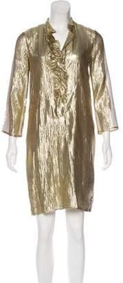 Les Prairies de Paris Metallic Mini Dress w/ Tags