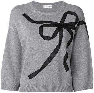 RED Valentino ribbon detail jumper