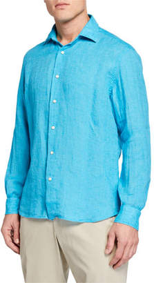 Culturata Men's Long-Sleeve Extra Soft Solid Sport Shirt