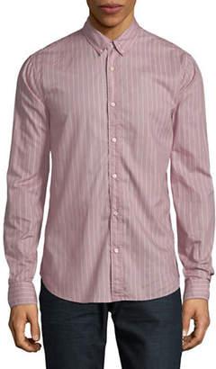 Scotch & Soda Printed Stripe Cotton Sport Shirt