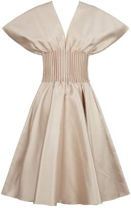 Alexis Mabille Pleated Waist Mini Dress