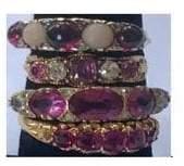 Fashion Concierge Vip Ruby and Diamonds 18K Gold