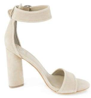 GUESS Aviva Suede Ankle-Strap Sandals