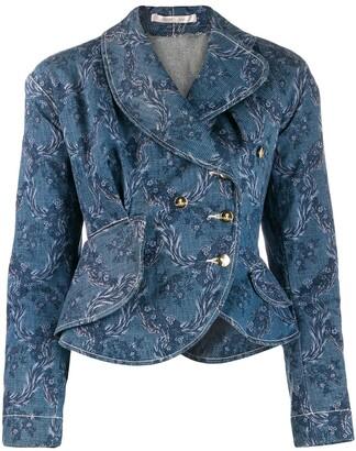 Vivienne Westwood Pre-Owned floral print denim jacket