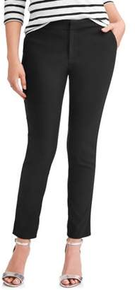 Time & Tru Women's Casual Pant with Back Elastic Waist