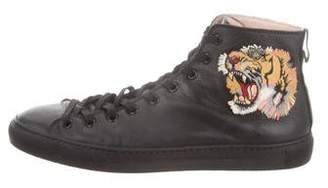 Gucci Major Tiger Leather Sneakers
