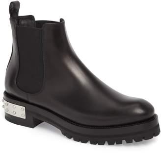 Alexander McQueen Metal Heel Slip-On Boot