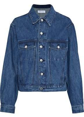 IRO Donna Ruffle-Trimmed Denim Jacket