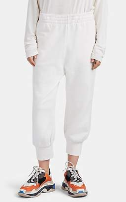 MM6 MAISON MARGIELA Women's Cotton Crop Drawstring Sweatpants - White