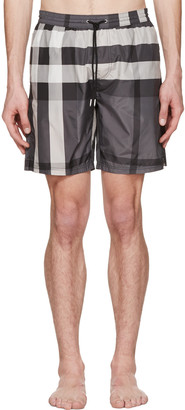 Burberry Grey Check Swim Shorts $295 thestylecure.com