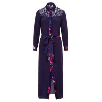 Sophie Cameron Davies - Midnight Blue Silk Maxi Dress