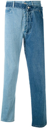 Christopher Shannon overlayed asymmetric jeans