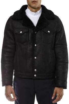 Diesel Black Gold Black Shearling Leather Jacket