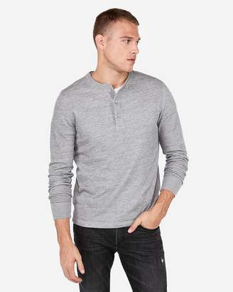 Express Vintage Fleece Henley