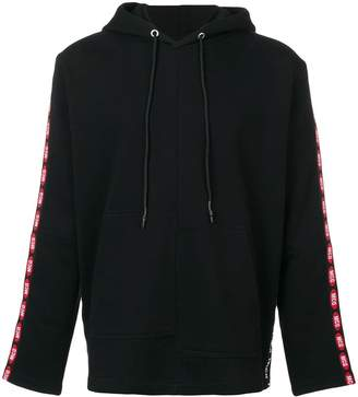 McQ brand stripe hoodie