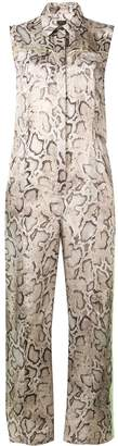 Pinko snakeskin print jumpsuit