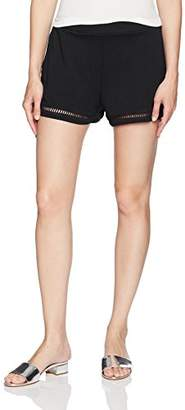Michael Stars Women's Cotton Modal Shorts Ladder Trim