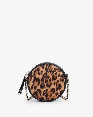Express Leopard Print Circle Crossbody Bag