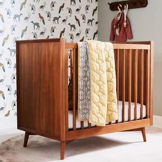 west elm Mid-Century Mini Crib + Mattress Set - Acorn