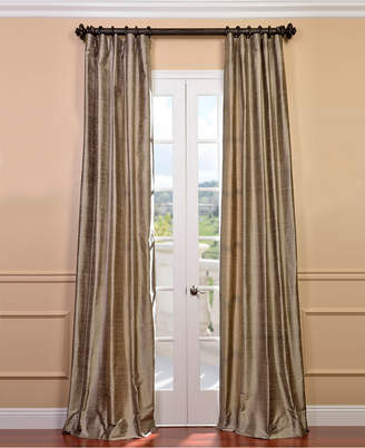 "Exclusive Fabrics & Furnishings Textured Dupioni Silk 50"" x 120"" Curtain Panel"