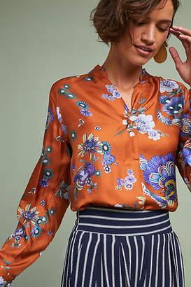 Le Sarte Pettegole Cervara Floral Silk Blouse