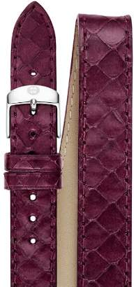 Michele Double Wrap Plum Snakeskin Strap, 16-18mm