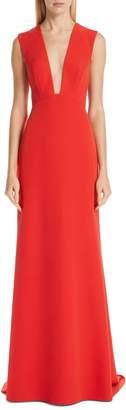 Monique Lhuillier Tie Back A-Line Gown