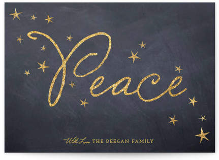 Sparkling Peace Holiday Non-Photo Cards