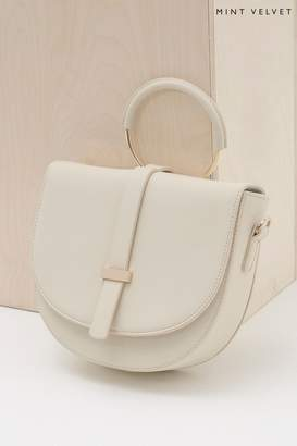 9996f8c0555 Mint Velvet Womens White Lianna Ring Saddle Bag - White