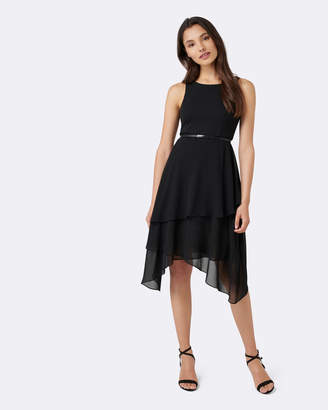 Ralph Lauren Petite 2-in-1 Tiered Maxi Dress