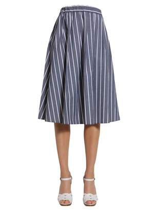 MICHAEL Michael Kors Striped Midi Skirt