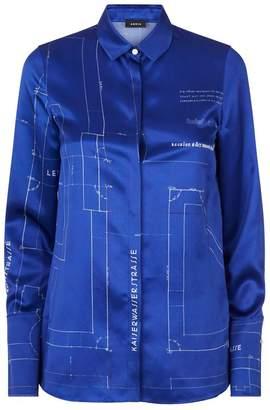 Akris Satin Blueprint Shirt