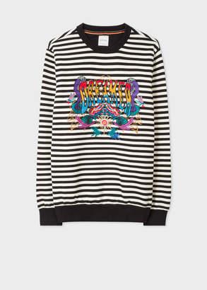 Paul Smith Men's Breton Stripe Sweatshirt With 'Dreamer' Embroidery
