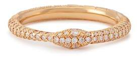 Gucci Ouroboros Diamond & 18kt Gold Ring - Womens - Gold