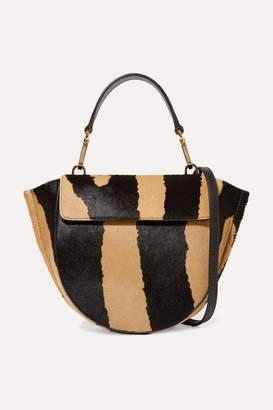 Wandler Hortensia Mini Zebra-print Calf Hair Shoulder Bag - Beige