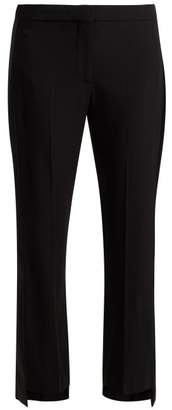 Alexander McQueen Satin Striped Crepe Tuxedo Trousers - Womens - Black